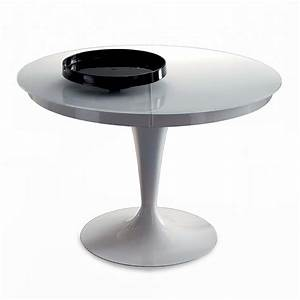 Table Ronde Extensible Design : table ronde extensible eclipse verre meubles et atmosph re ~ Teatrodelosmanantiales.com Idées de Décoration