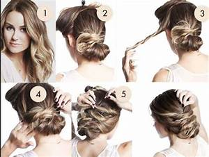 messy bun hairstyles step by step 3 : NationTrendz