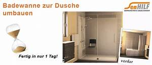 Badewanne Umbauen Zur Dusche : senhilf barrierefreies badezimmer ~ Markanthonyermac.com Haus und Dekorationen