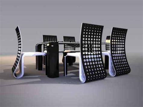 table et chaises design l 39 ensemble table et chaise futuristique archzine fr