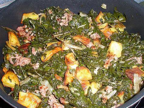 blette cuisine recette de fricassée de blette pomme de terre et chair à