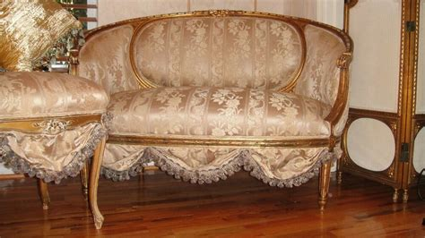 Antique Furniture Sofa by Antique Settee Sofa Loveseat Circa 1800 S Scallops