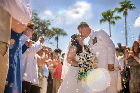 A magical, bubble filled exit at Disney's Wedding Pavilion. Photo: Ali, Disney Fine Art