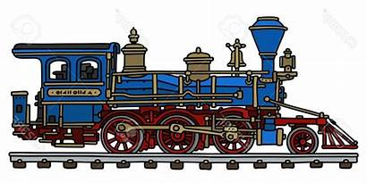 Steam Locomotive Clipart Drawing Engine Vector Amp