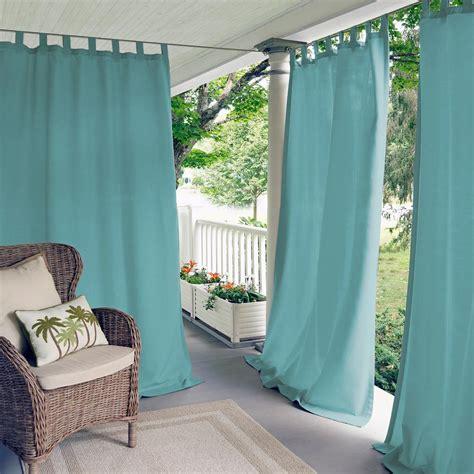 Waterproof Drapes - elrene matine mineral indoor outdoor window curtain panel