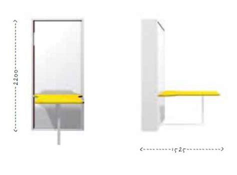misure scrivania mobile trasformabile letto singolo verticale letto rete