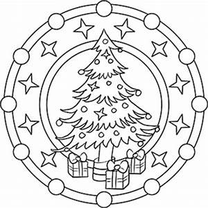 Mandalas Fr Kinder Zu Weihnachten Weihnachtsmandala Zum