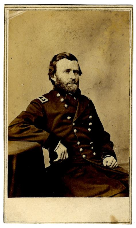 lot detail cdv  ulysses  grant  civil war uniform