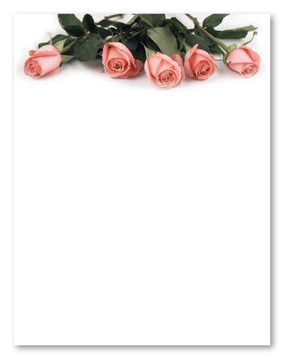 stationery clip art pink rose petals wedding stationery