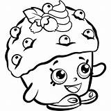 Coloring Shopkins Muffin Mini Pages Printable Scribblefun sketch template