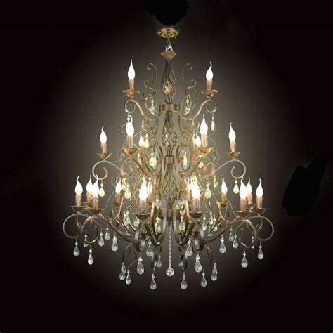 In Chandelier by Large 21pcs E14 Lustres Wrought Iron Chandelier Light Big