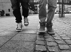 Two people walking on the street public domain free photos ...