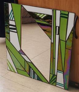 Miroir vitrail tiffany art deco glass mosaics and for Miroir art deco