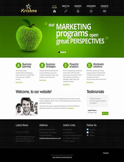 Web Templates Website Financial Services Fotolip Krishna