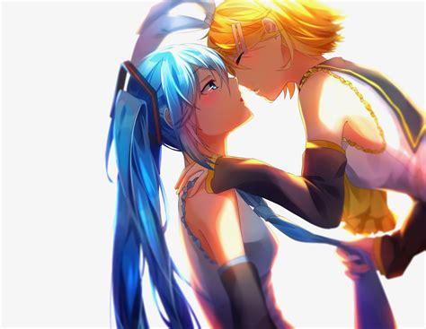 Wallpapers in ultra hd 4k 3840x2160, 1920x1080 high definition resolutions. long hair, Short hair, Blue hair, Blue eyes, Yellow hair, Anime, Anime girls, Vocaloid, Hatsune ...
