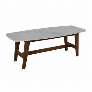 82% OFF - Faux Marble Coffee Table / Tables