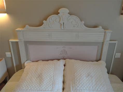 tête de lit ancienne de 140 cm relookée et modifiée pour