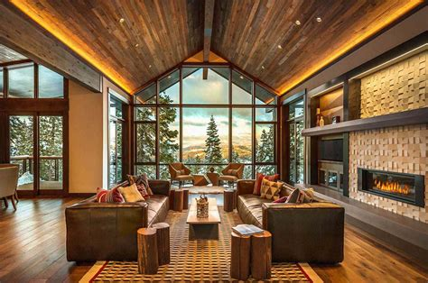mountain modern ski retreat with breathtaking views in