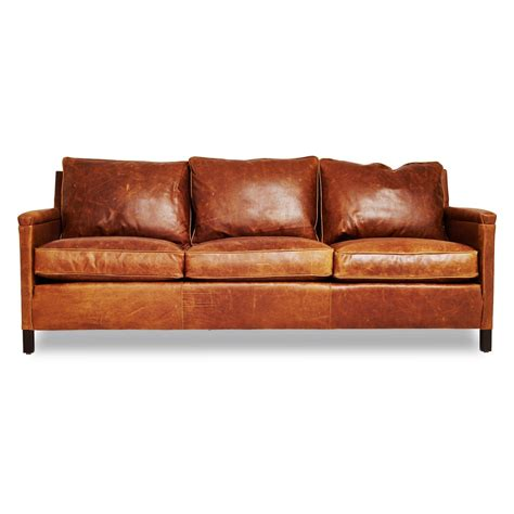distressed leather reclining sofa burnt orange leather sofa used rustic brown leather