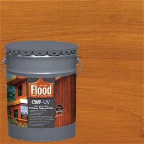 Cwf Deck Stain Home Depot by Flood 5 Gal Cedar Tone Cwf Uv Based Exterior Wood