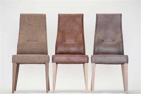 chaise en cuir chaise en cuir marron enomia 4596