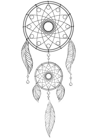 dream catcher coloring page  printable coloring pages