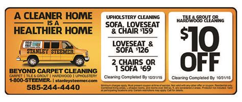 save on your carpet cleaning with stanley steemer coupons
