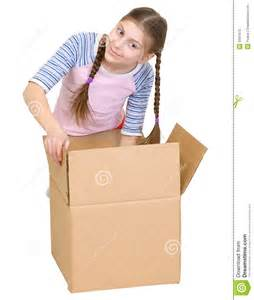 Girls Cardboard Box