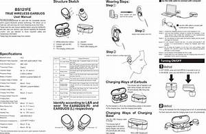 Bs121fe True Wireless Earbuds User Manual Users Manual