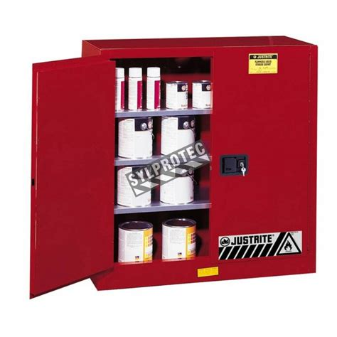 justrite safety cabinet for combustibles 40 us gal fm