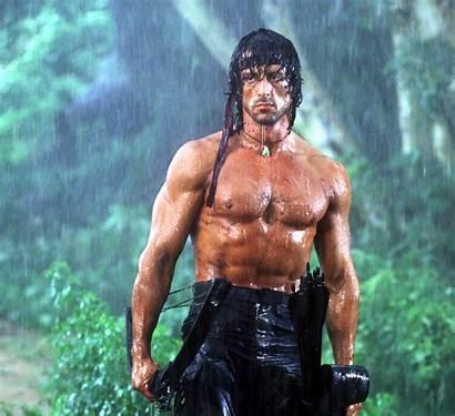 Stallone Sylvester Guy Rambo Torso Thriller Muscles