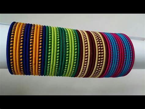 kalar  diy double colour silk thread jewelry simple