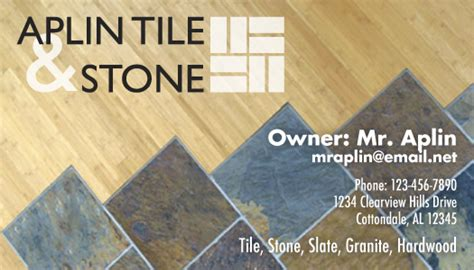 aplin tile logo business card  katie whatley