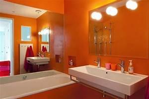 Salle De Bain Orange : salle de bain orange ces 5 mod les vont vous faire changer d avis ~ Preciouscoupons.com Idées de Décoration