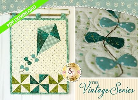 shabby fabrics downloads the vintage series july wall hanging pattern pdf download