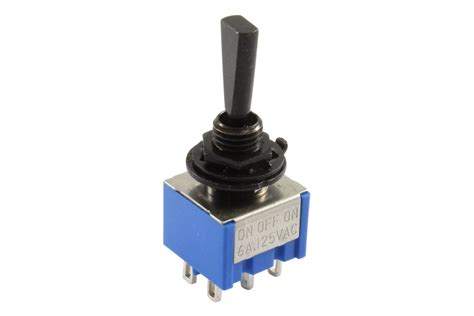 Mini Flat Paddle Toggle Switch Way Off Black Ebay