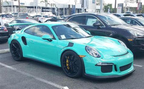 Porsche Gt3 Rs Green by Mint Green Porsche 991 Gt3 Rs Sighted
