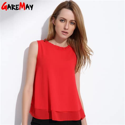summer blouse aliexpress com buy garemay summer tops sleeveless