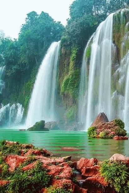 Nature Gifs Waterfalls Vietnam Landscapes