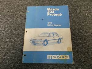 1992 Mazda Protege Original Electrical Wiring Diagram