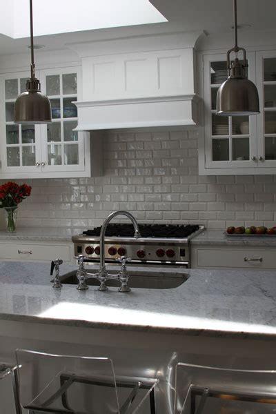 beveled subway tile backsplash transitional kitchen