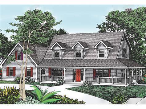 cape home designs cottage hill cape cod style home enticing wrap around porch from houseplansandmore com dream