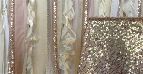 Sequin Wedding Garland Pink Blush Ivory White Fabric Party