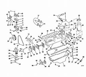 Omc Stern Drive Cooling And Oiling Group 120 Hp Parts For