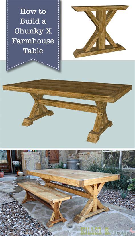build  chunky  farmhouse table pretty handy girl