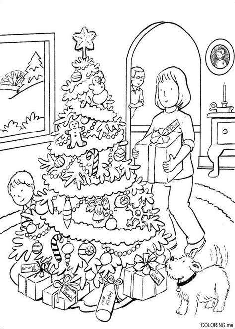 coloring page christmas hidden gift coloring me
