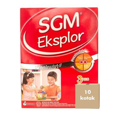 sgm eksplor 3plus jual sgm eksplor 3plus vanila 900 g karton 10 kotak