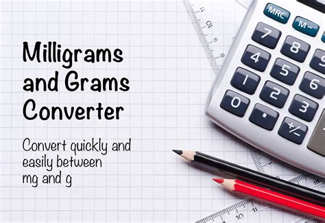 Milligrams and Grams Converter (mg to g