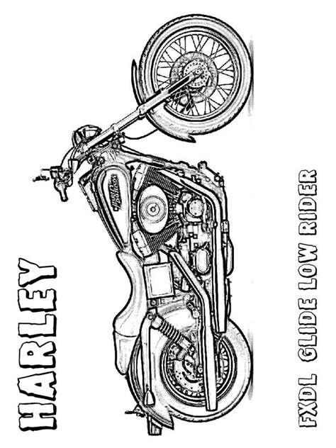 harley davidson coloring pages  printable harley davidson coloring pages
