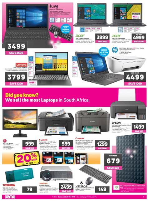 game friday specials advertisement r100 saving million deals